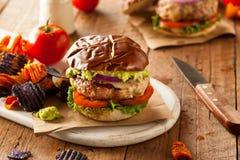 Eigengemaakt Gezond Turkije Burgers Royalty-vrije Stock Fotografie