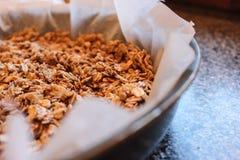 Eigengemaakt graangewas - granola Royalty-vrije Stock Afbeeldingen