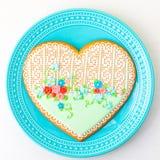Eigengemaakt hart gevormd koekje royalty-vrije stock afbeelding