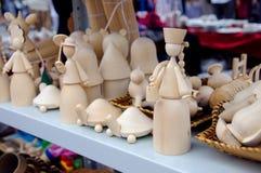Eigengemaakt houten speelgoed Royalty-vrije Stock Foto's
