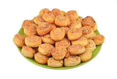Eigengemaakt koekje op plaat stock foto