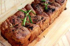 Eigengemaakt kruidenbrood Gezond brood stock afbeeldingen