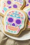 Eigengemaakt Mexicaans Sugar Skull Cookies royalty-vrije stock foto's