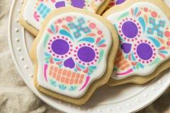 Eigengemaakt Mexicaans Sugar Skull Cookies stock foto