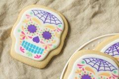 Eigengemaakt Mexicaans Sugar Skull Cookies royalty-vrije stock foto