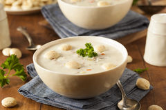 Eigengemaakt New England Clam Chowder royalty-vrije stock foto