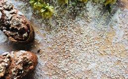 Eigengemaakt ongedesemd brood stock foto