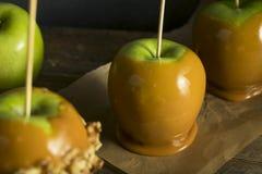 Eigengemaakt Organisch Suikergoed Taffy Apples Royalty-vrije Stock Fotografie