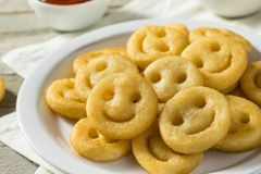 Eigengemaakt Smiley Face French Fries stock afbeelding