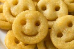 Eigengemaakt Smiley Face French Fries stock afbeeldingen