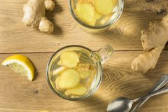 Eigengemaakt Vers Ginger Tea stock foto