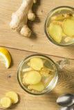 Eigengemaakt Vers Ginger Tea stock foto's