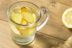 Eigengemaakt Vers Ginger Tea royalty-vrije stock foto's