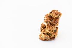 Eigengemaakt wholewheat quinoa koekje Stock Foto