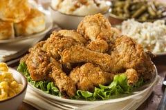 Eigengemaakt Zuidelijk Fried Chicken royalty-vrije stock foto's