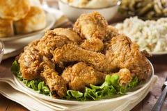 Eigengemaakt Zuidelijk Fried Chicken stock foto