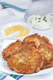 Eigengemaakte aardappelpannekoeken Stock Foto
