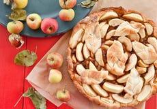 Eigengemaakte appeltaart Royalty-vrije Stock Foto's