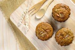 Eigengemaakte banaan cupcakes Royalty-vrije Stock Foto