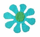 Eigengemaakte bloem met weg Royalty-vrije Stock Afbeeldingen