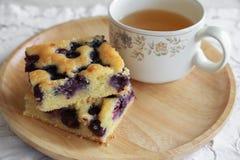 Eigengemaakte bosbessencake Royalty-vrije Stock Foto's
