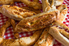 Eigengemaakte broden en broodjes Royalty-vrije Stock Foto