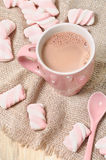Eigengemaakte cacaodrank met heemst Stock Foto