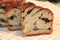 Eigengemaakte cake met papaverzaden Royalty-vrije Stock Afbeeldingen