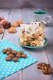 Eigengemaakte Cake met Zure room Stock Afbeelding