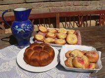Eigengemaakte cakes Stock Fotografie