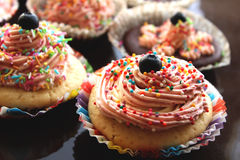 Eigengemaakte cakes Stock Foto