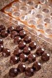 Eigengemaakte choclatepraline Stock Fotografie