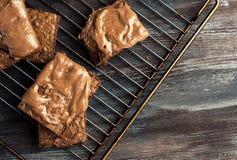 Eigengemaakte chocolade brownies Royalty-vrije Stock Foto's