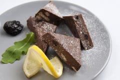 Eigengemaakte chocolade en citroen stock foto