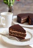 Eigengemaakte chocoladecake Stock Afbeeldingen