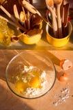 Eigengemaakte chocoladekoekjes Royalty-vrije Stock Foto's
