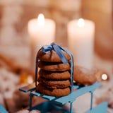 Eigengemaakte chocoladekoekjes Stock Foto's