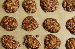 Eigengemaakte chocoladekoekjes Royalty-vrije Stock Foto