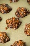 Eigengemaakte chocoladekoekjes Stock Afbeeldingen