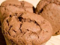 Eigengemaakte chocolademuffins Stock Foto