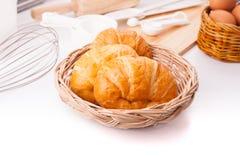 Eigengemaakte croissants Stock Afbeelding