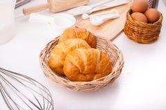 Eigengemaakte croissants Royalty-vrije Stock Afbeelding