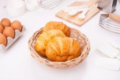 Eigengemaakte croissants Royalty-vrije Stock Afbeeldingen