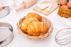 Eigengemaakte croissants Royalty-vrije Stock Fotografie