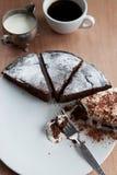 Eigengemaakte de chocoladecake van België Royalty-vrije Stock Fotografie