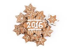 Eigengemaakte de koekjes van de Kerstmispeperkoek royalty-vrije stock foto's