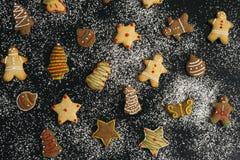 Eigengemaakte de peperkoekkoekjes van Kerstmis royalty-vrije stock foto's