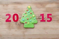 Eigengemaakte de peperkoekkoekjes van Kerstmis Royalty-vrije Stock Foto