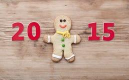 Eigengemaakte de peperkoekkoekjes van Kerstmis Royalty-vrije Stock Afbeelding
