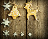 Eigengemaakte de peperkoekkoekjes van Kerstmis Stock Fotografie